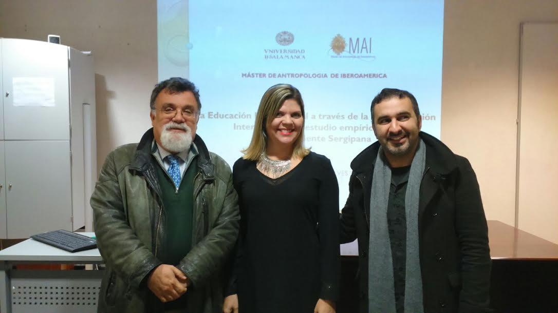 À esquerda o Prof Dr. Ángel Baldomero Espina Barrio e à direita o Prof Dr. Danie