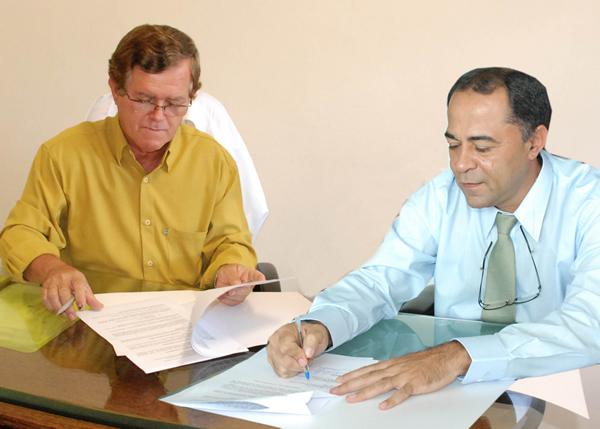 Outran Borges, Provedor do HDPA e <br>Antônio Walter, Diretor Geral da FAT